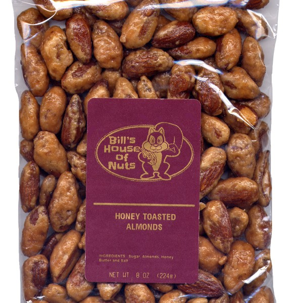 Almonds, Honey Toasted - 8 oz package