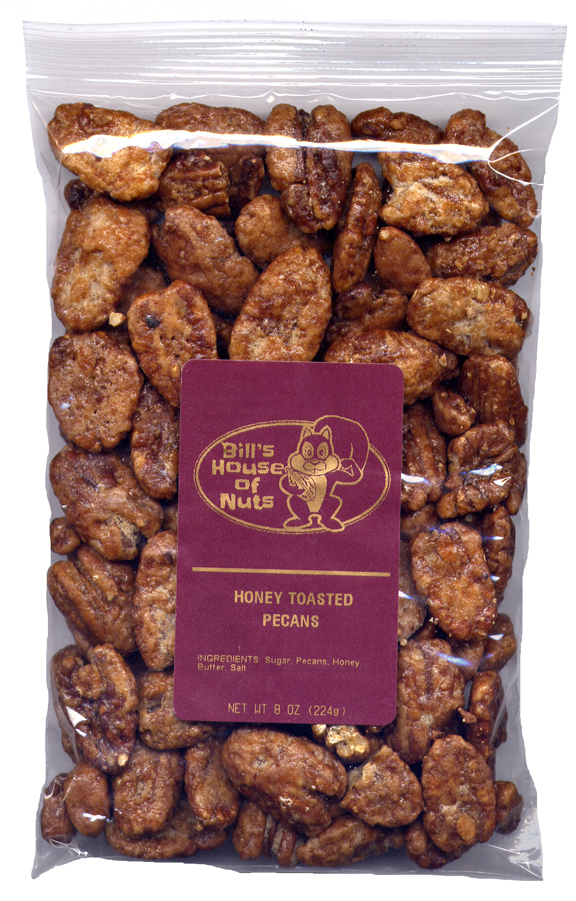 Pecans, Honey Toasted - 8 oz package