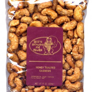 Cashews, Honey Toasted - 8 oz package