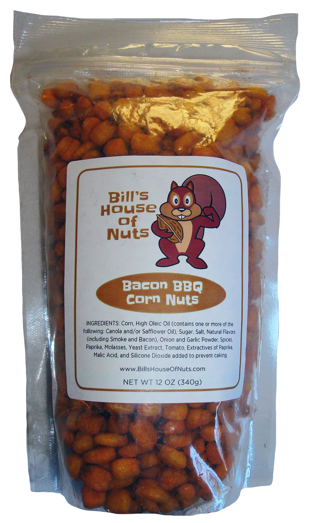 Bacon BBQ Corn Nuts Snacks - Available in 8oz 12oz 28oz bags